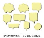 vector bubbles speech set. hand ... | Shutterstock .eps vector #1210733821