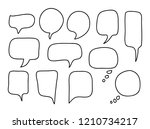 vector bubbles speech set. hand ... | Shutterstock .eps vector #1210734217