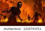 Halloween Background.zombie...