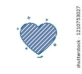 hearts icon design vector | Shutterstock .eps vector #1210753027