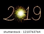 happy new year 2019 with...   Shutterstock . vector #1210763764