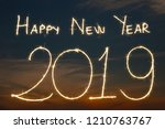 happy new year 2019 with...   Shutterstock . vector #1210763767