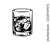 vintage monochrome glass of... | Shutterstock .eps vector #1210764571