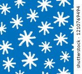 print with snowflakes drawn by... | Shutterstock .eps vector #1210769494