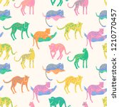 vector seamless pattern with...   Shutterstock .eps vector #1210770457