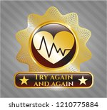 gold badge or emblem with... | Shutterstock .eps vector #1210775884