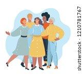 vector cartoon illustration of... | Shutterstock .eps vector #1210781767