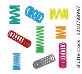 compression spring all color...   Shutterstock .eps vector #1210788967