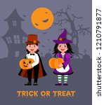 happy halloween. children... | Shutterstock .eps vector #1210791877