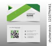 business card vector template  | Shutterstock .eps vector #1210796461