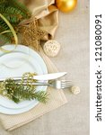 beautiful christmas setting ... | Shutterstock . vector #121080091