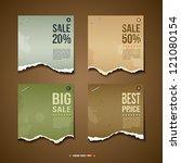 Vintage Label Ripped paper for business design background, vector illustration