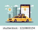 modern taxi call using... | Shutterstock .eps vector #1210803154