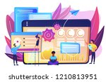 seo specialists work on high... | Shutterstock .eps vector #1210813951