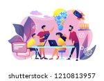 business team brainstorm idea...   Shutterstock .eps vector #1210813957
