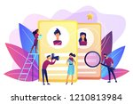 modeling agency manager and... | Shutterstock .eps vector #1210813984