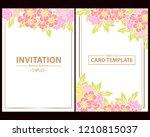 romantic wedding invitation... | Shutterstock .eps vector #1210815037