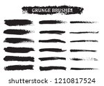 grunge paint lines collection... | Shutterstock .eps vector #1210817524