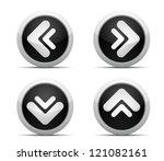 Black Arrows button - stock vector