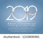 vector silver and white merry... | Shutterstock .eps vector #1210830481