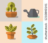 leafs and plants set vector | Shutterstock .eps vector #1210840141
