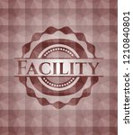 facility red seamless badge...   Shutterstock .eps vector #1210840801