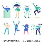 a character set that made a lot ... | Shutterstock .eps vector #1210846561