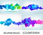 vector set of abstract... | Shutterstock .eps vector #1210853404