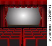 a  illustration of a cinema or... | Shutterstock .eps vector #121085461