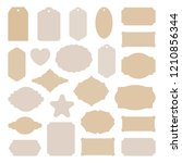 labels tags big set  vintage... | Shutterstock .eps vector #1210856344