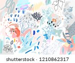 floral background. trendy... | Shutterstock .eps vector #1210862317