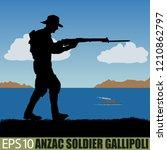 australia or new zealand anzac... | Shutterstock .eps vector #1210862797