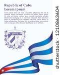 illustrative editorial flag of... | Shutterstock .eps vector #1210863604