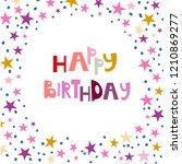 birthday greeting card   Shutterstock .eps vector #1210869277