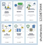 vector set of mobile app... | Shutterstock .eps vector #1210873444