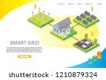 smart grid network landing page ... | Shutterstock .eps vector #1210879324