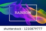 rainbow fluid background.... | Shutterstock .eps vector #1210879777