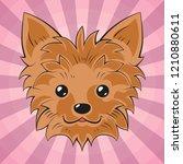 yorkshire terrier face. dog... | Shutterstock .eps vector #1210880611