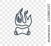 bonfire concept vector linear... | Shutterstock .eps vector #1210881337