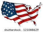 us flag map inner shadow | Shutterstock .eps vector #121088629