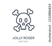 jolly roger icon. jolly roger...   Shutterstock .eps vector #1210886824