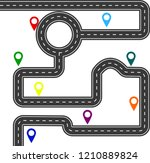 road with route signs  vector | Shutterstock .eps vector #1210889824