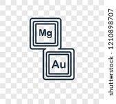 periodic table concept vector... | Shutterstock .eps vector #1210898707