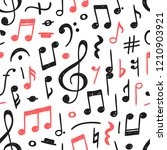 hand drawn music notes... | Shutterstock .eps vector #1210903921