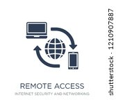 remote access icon. trendy flat ... | Shutterstock .eps vector #1210907887