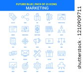 marketing icons   futuro blue... | Shutterstock .eps vector #1210909711