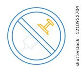 banned   not allowed   no... | Shutterstock .eps vector #1210922704
