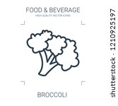 broccoli icon. high quality... | Shutterstock .eps vector #1210925197