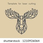 template animal for laser... | Shutterstock .eps vector #1210926064