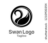 royal swan logo templates | Shutterstock .eps vector #1210930354